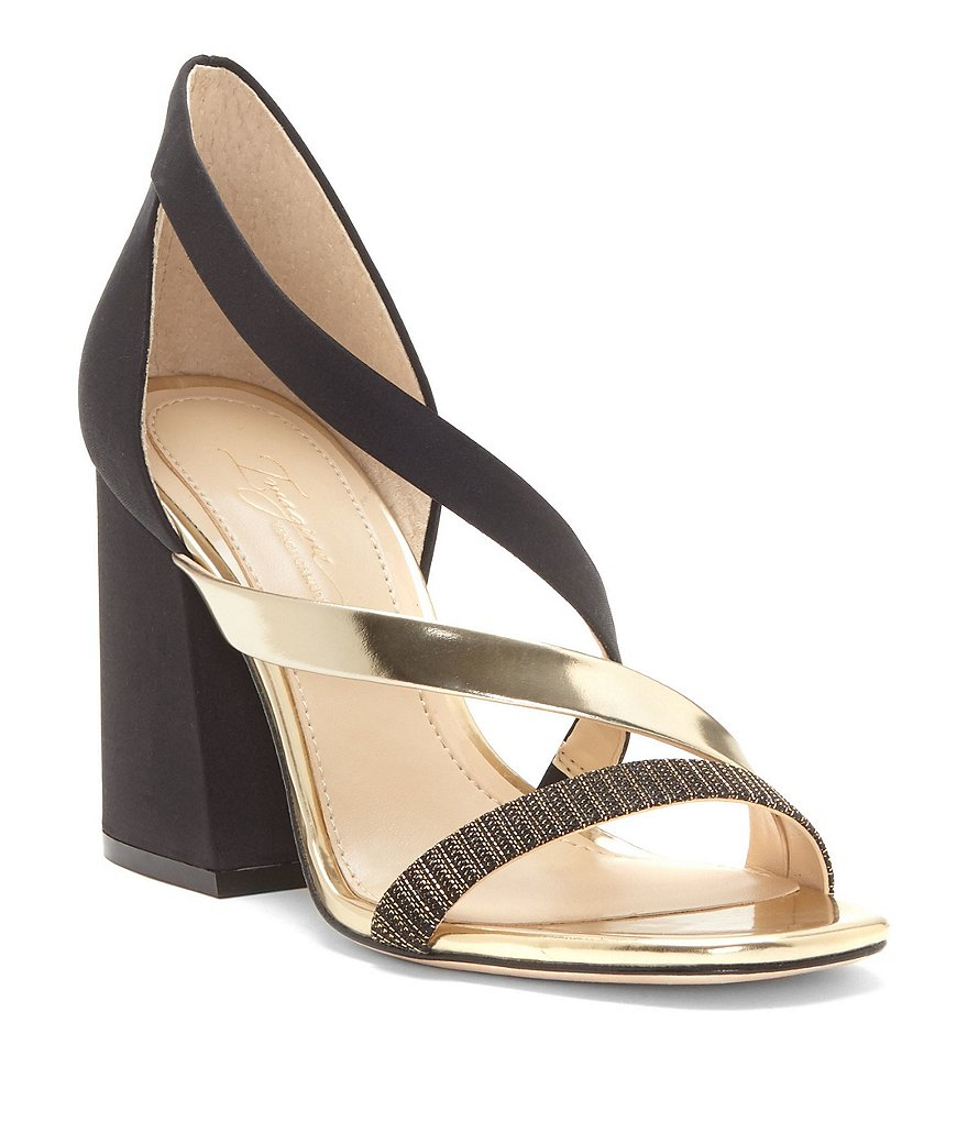 Imagine Vince Camuto Abi Metallic Leather & Satin Strappy Dress Sandals