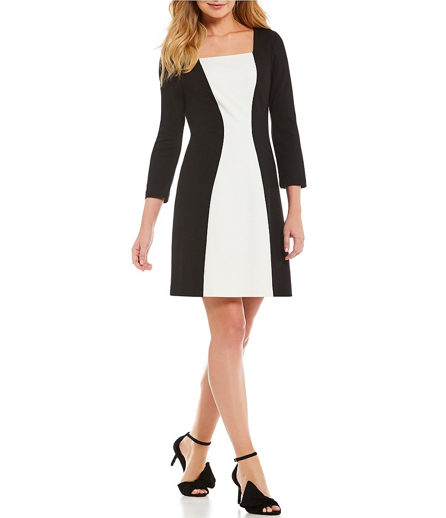 IMNYC Isaac Mizrahi Square Neck A-Line Dress
