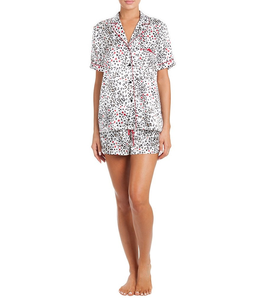 In Bloom by Jonquil Animal-Print Satin Pajamas
