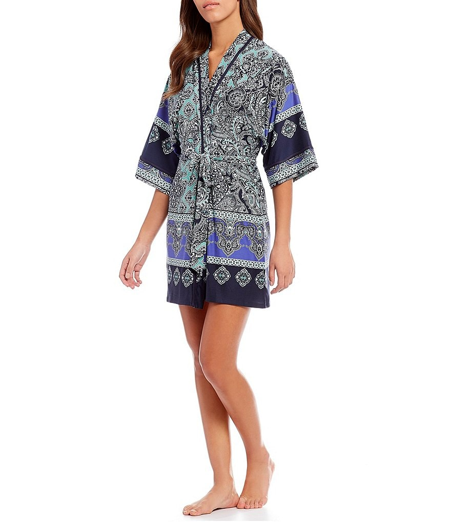 In Bloom by Jonquil Blue Eyed Grass Wrap Robe