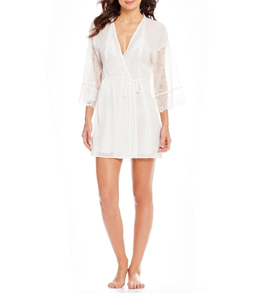 In Bloom by Jonquil Helena Chiffon & Lace Wrap Robe