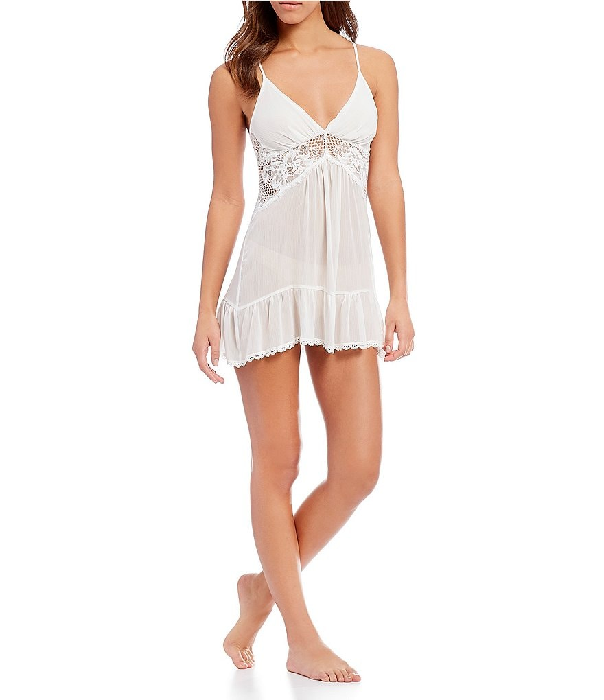In Bloom by Jonquil Roseanne Crinkled Chiffon Chemise