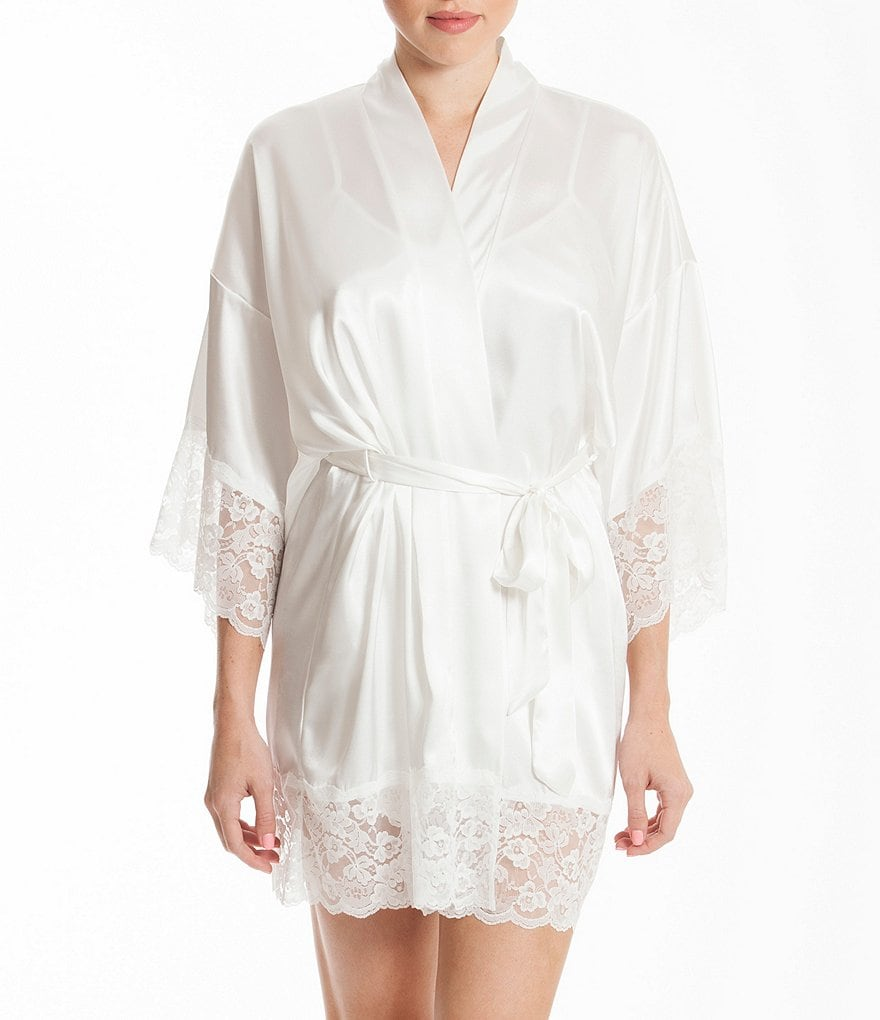 In Bloom by Jonquil Satin & Lace Bridal Robe