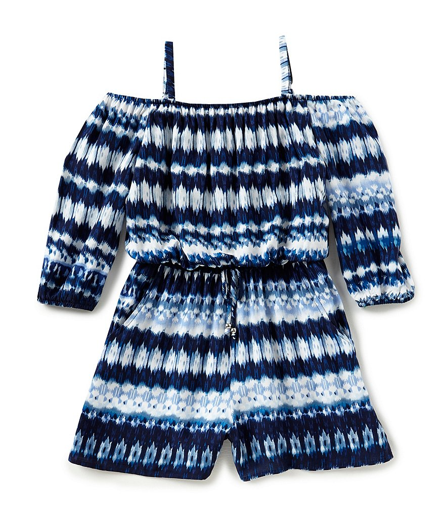 I.N. Girl Big Girls 7-16 Off-The-Shoulder Printed Romper