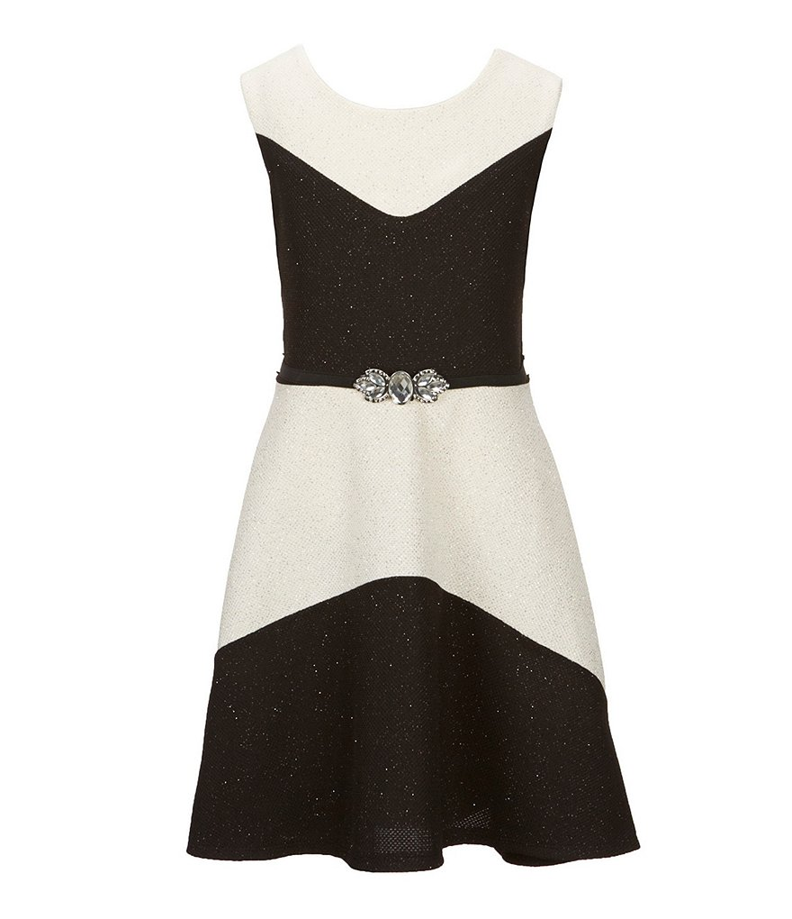 I.N. Girl Big Girls 7-16 Sleeveless Colorblock Dress