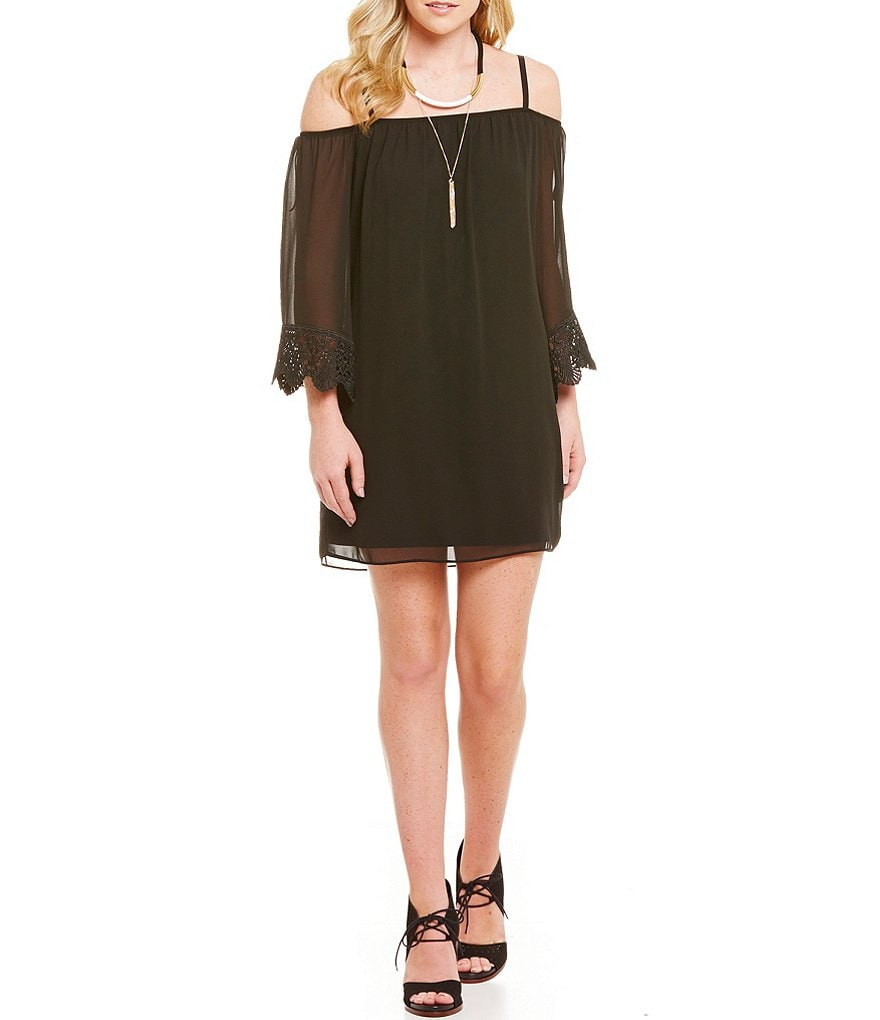 I.N. San Francisco Off-The-Shoulder Shift Dress