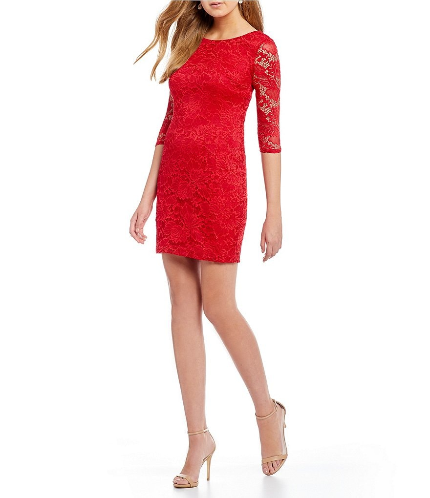 I.N. San Francisco Lace Sheath Dress