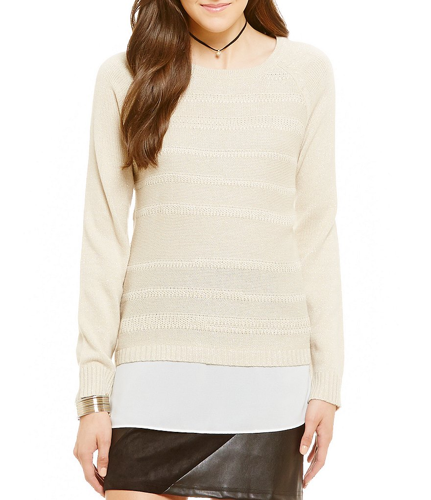 I.N. San Francisco Lightweight Two-fer Sweater