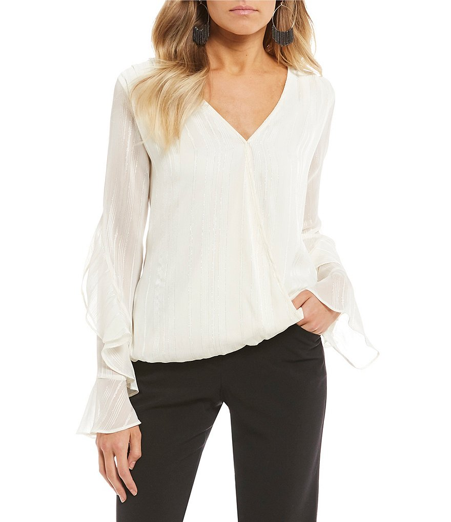 I.N. San Francisco Ruffle-Sleeve Top