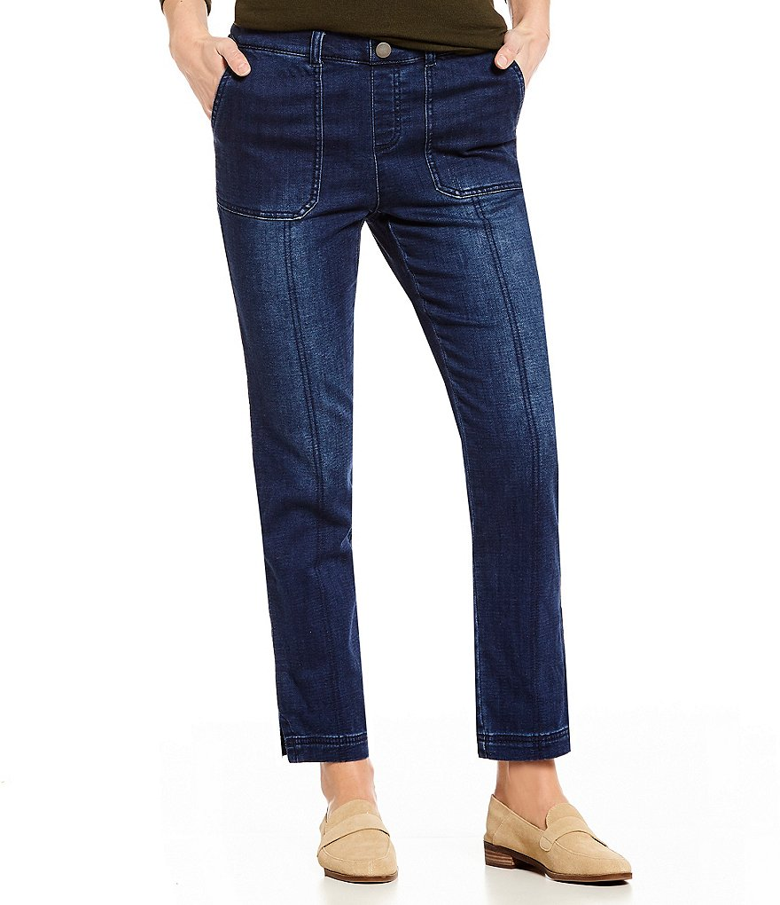 Intro Regan French Terry Pull-On Denim Jeans
