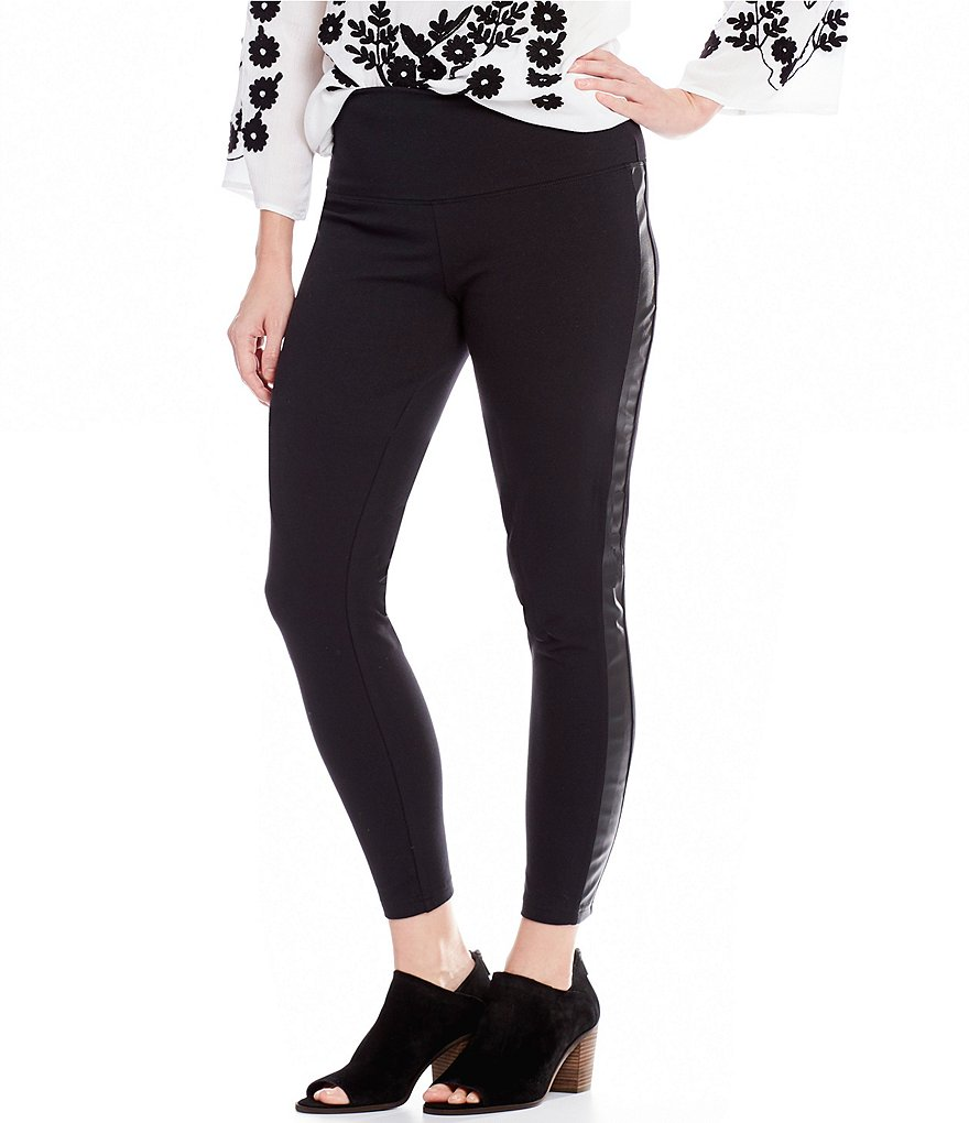 Intro Teri Love the Fit Pull-On Faux Leather Side Panel Leggings