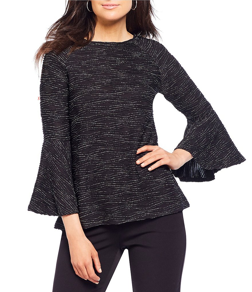 Investments 3/4 Flutter Sleeve Top