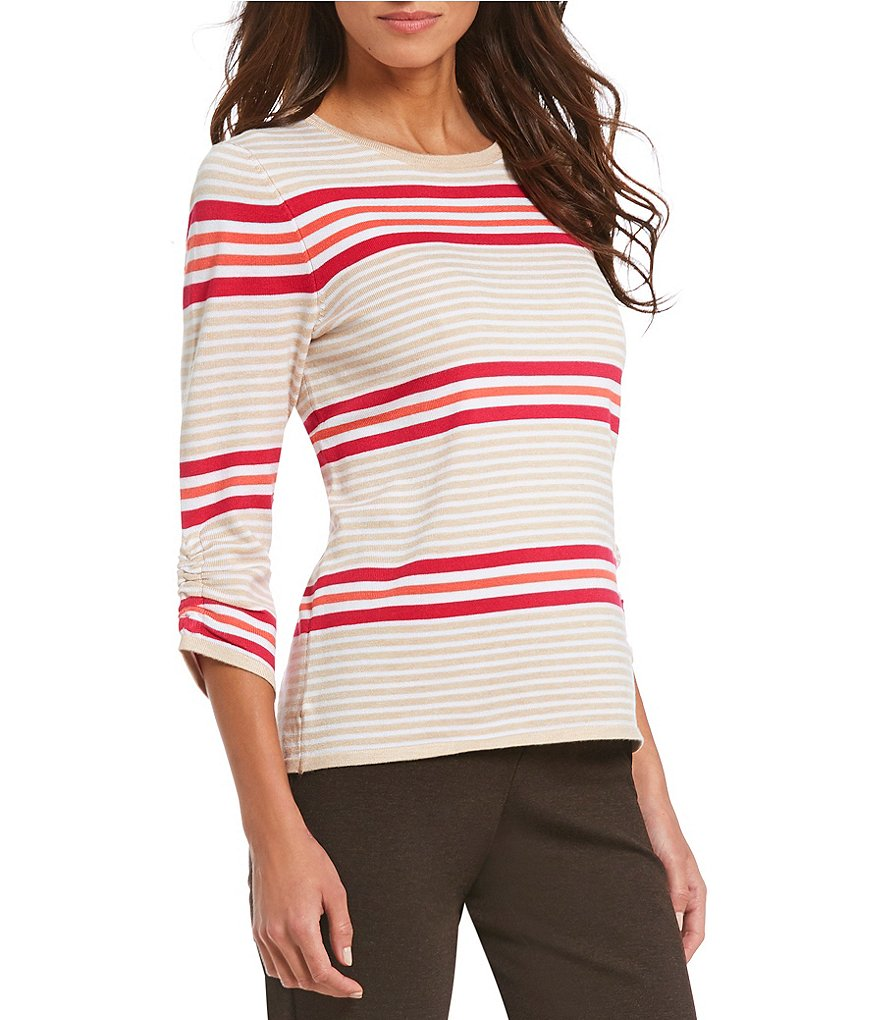 Investments 3/4 Ruched Sleeve Sweater