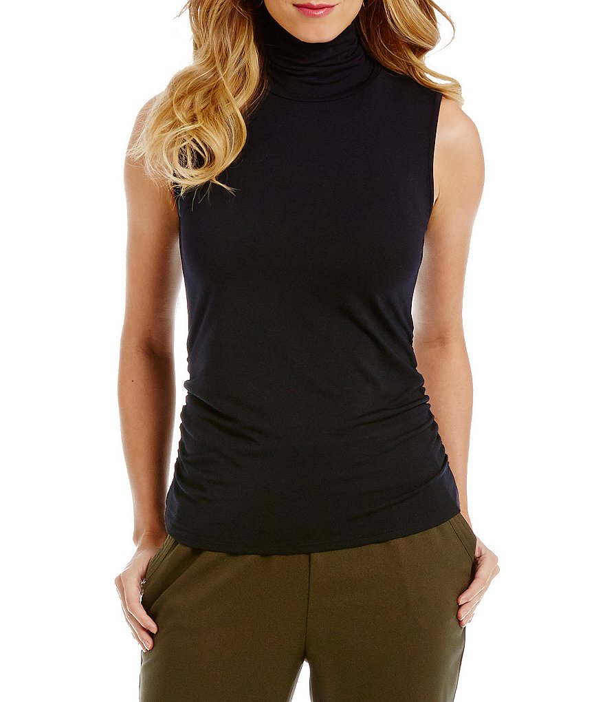 Investments Essentials Sleeveless Scrunch Neck Top