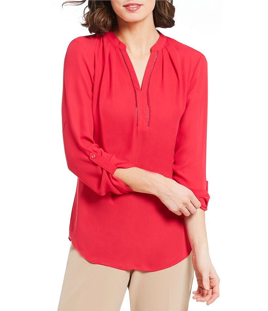 Investments Long Sleeve Y-Neck Popover