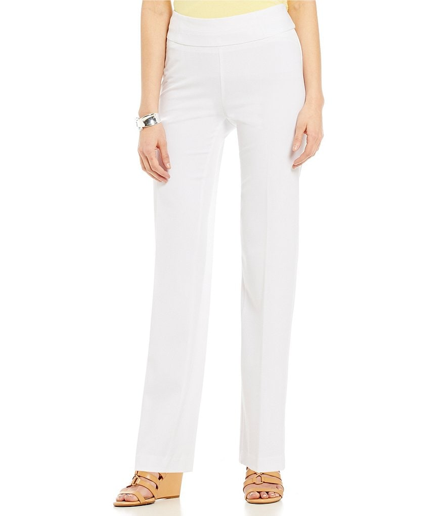 Investments Petites the PARK AVE fit Pull-On Straight Leg Pant