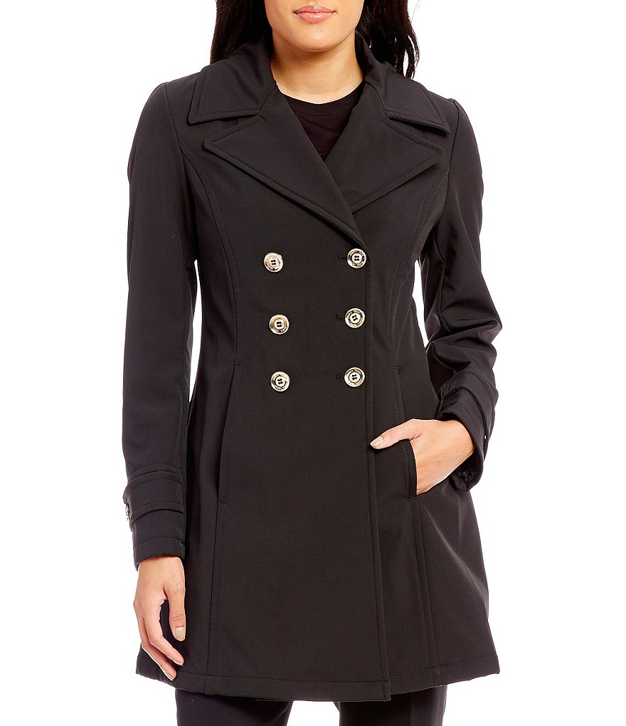 Ivanka Trump Double Breasted Button Front Softshell Coat