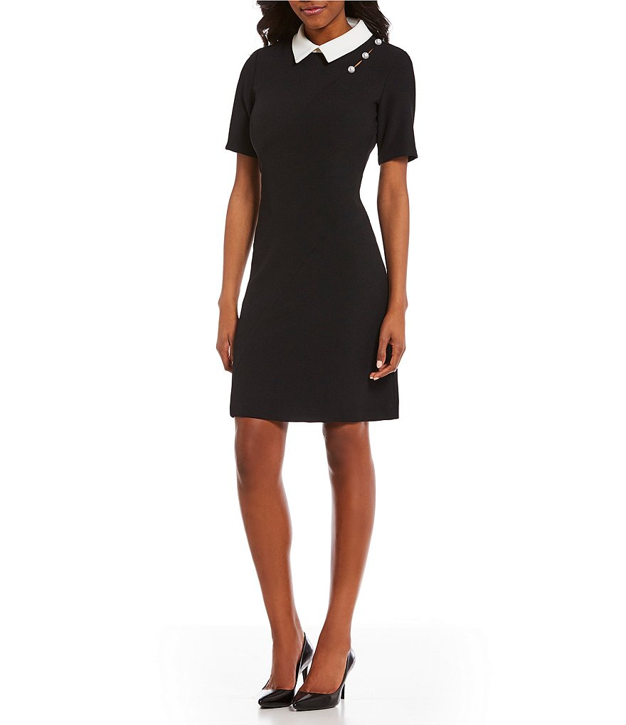 Ivanka Trump Fit and Flare Pearl Detail Dress