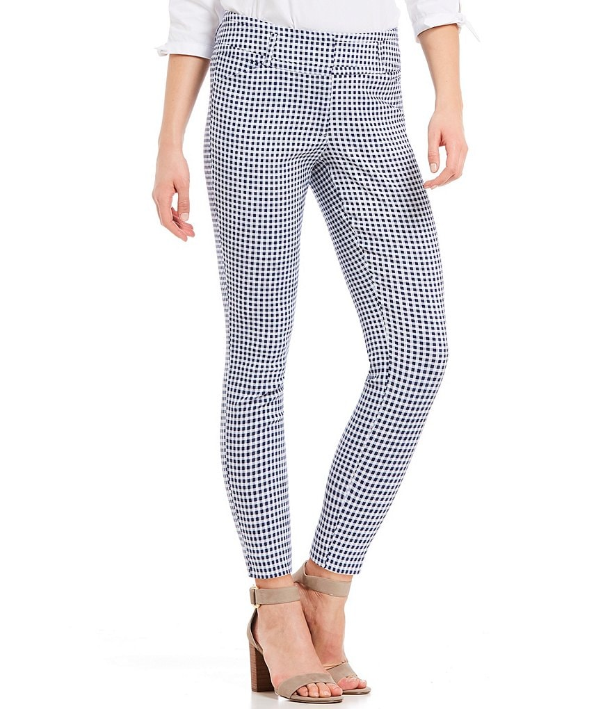 Ivanka Trump Gingham Check Print Ankle Pants