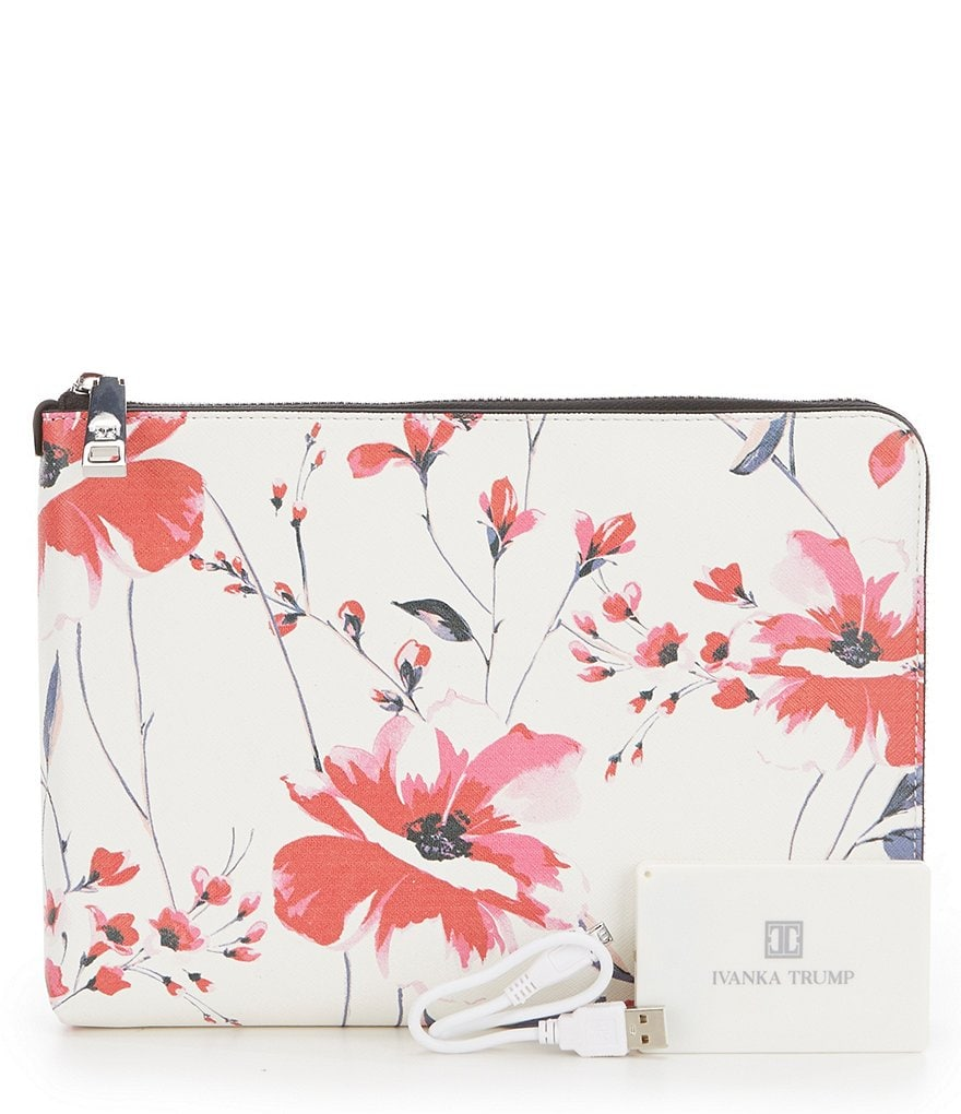 Ivanka Trump Rio Floral Tech Clutch with Charger