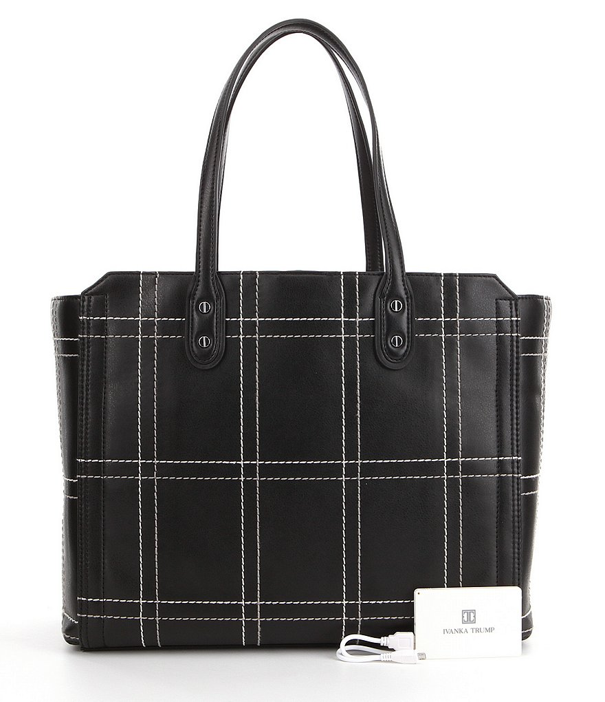 Ivanka Trump Soho Solutions Windowpane Work Tote