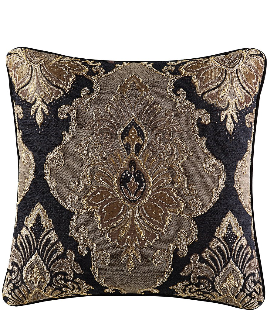 J. Queen New York Bradshaw Damask Chenille Square Pillow