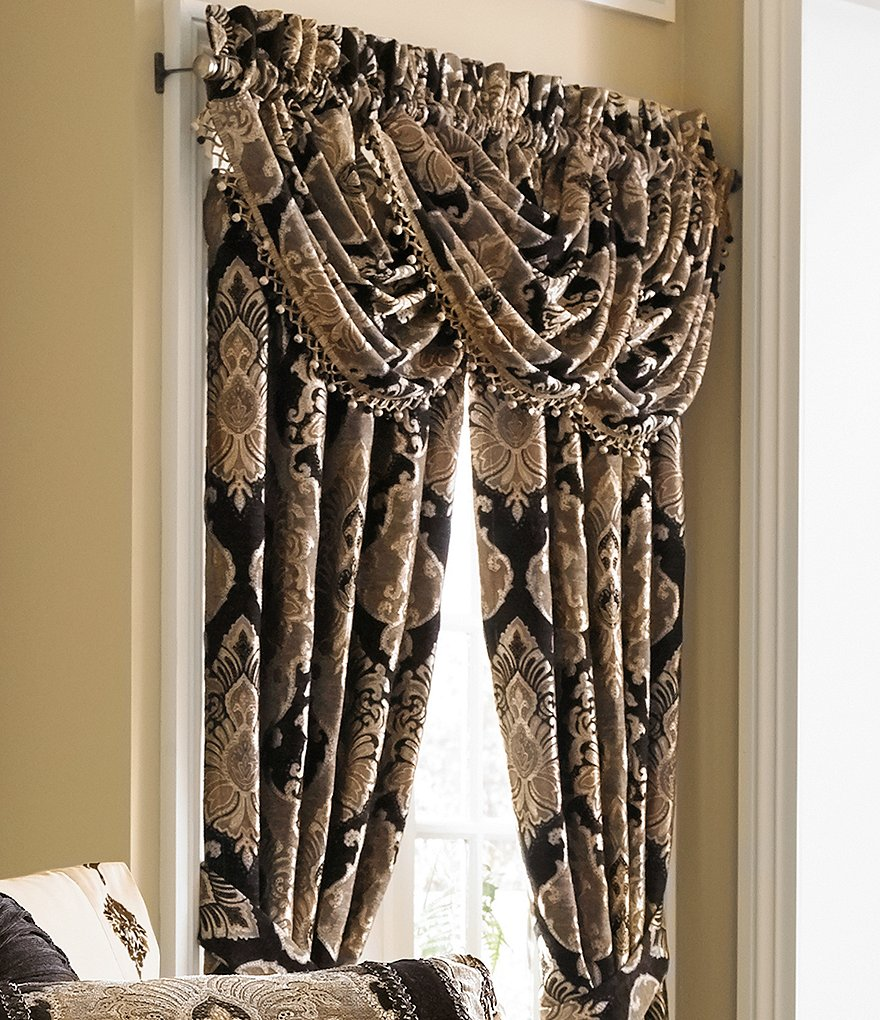J. Queen New York Bradshaw Damask Chenille Window Treatments