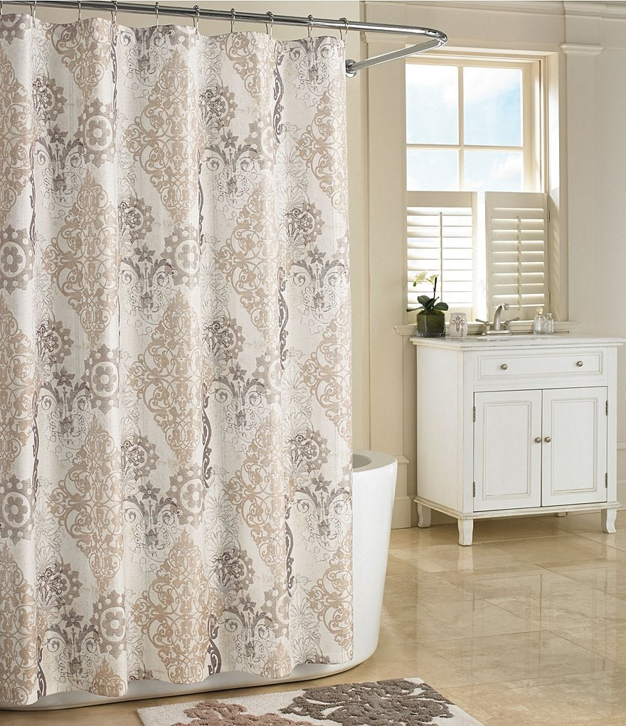 J Queen New York Galileo Damask Shower Curtain