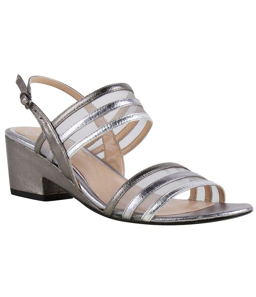 J. Renee Erma Metallic Sandals
