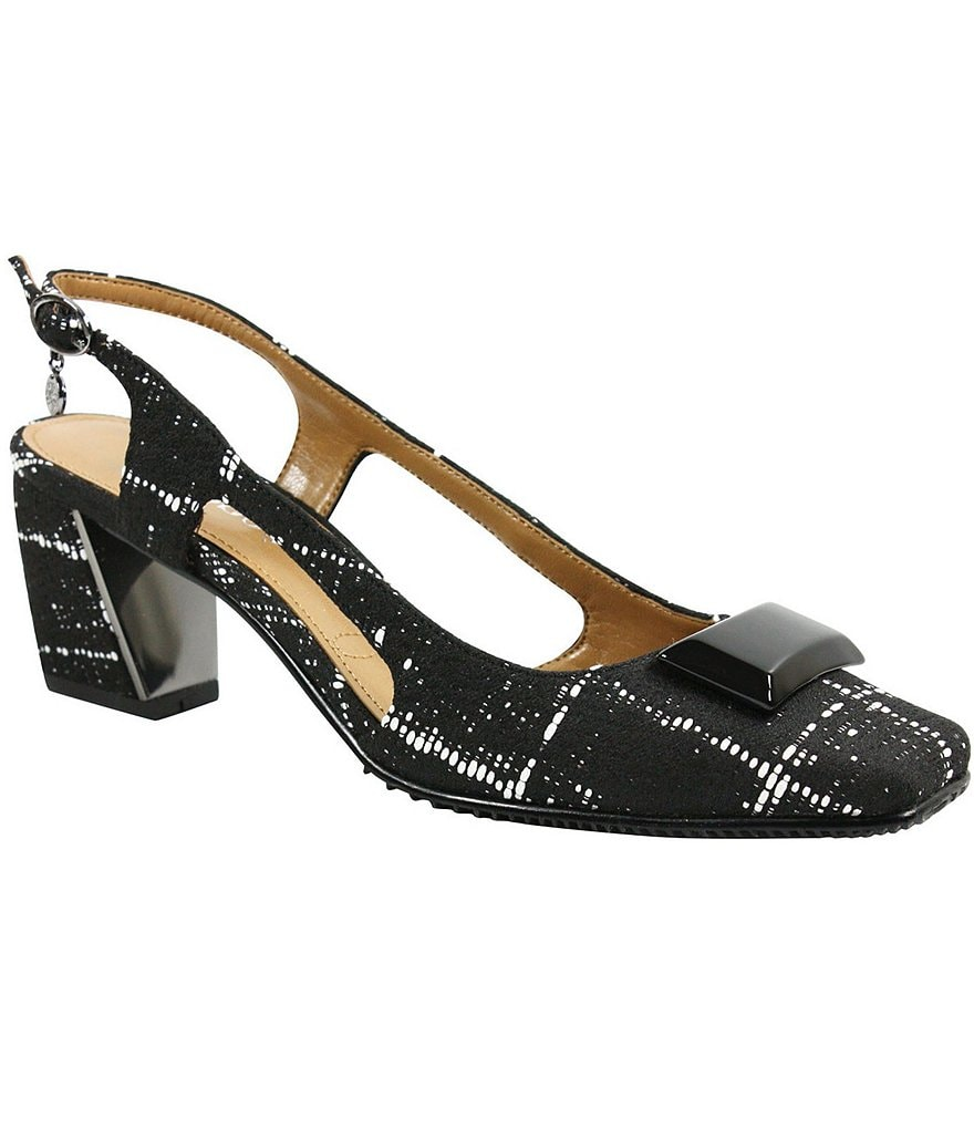 J. Renee Samina Ornament Topped Sling-Back Pumps
