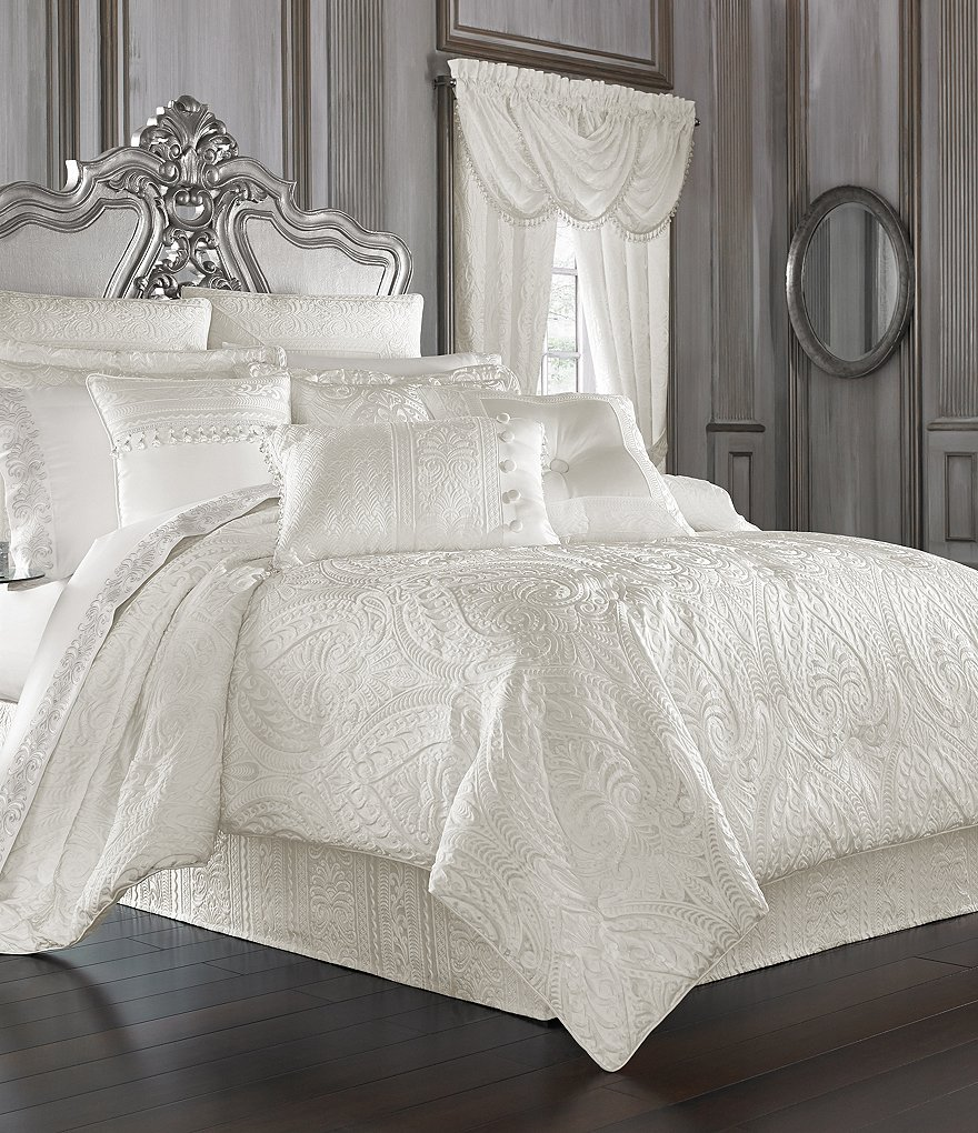 J Queen New York Bianco Damask Comforter Set Dillard S