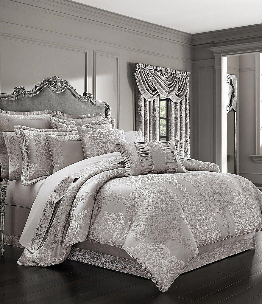 J Queen New York La Scala Silver Comforter Set Dillards