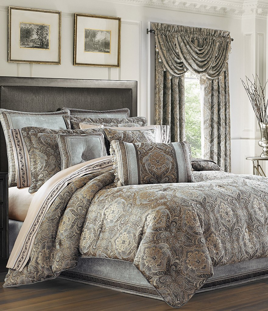j queen new york provence damask chenille comforter set dillard s