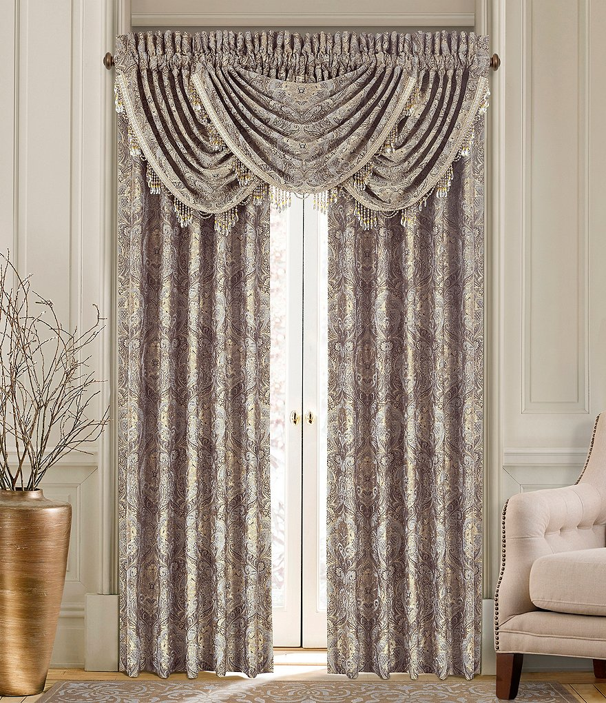 J. Queen New York Provence Damask Chenille Window Treatments