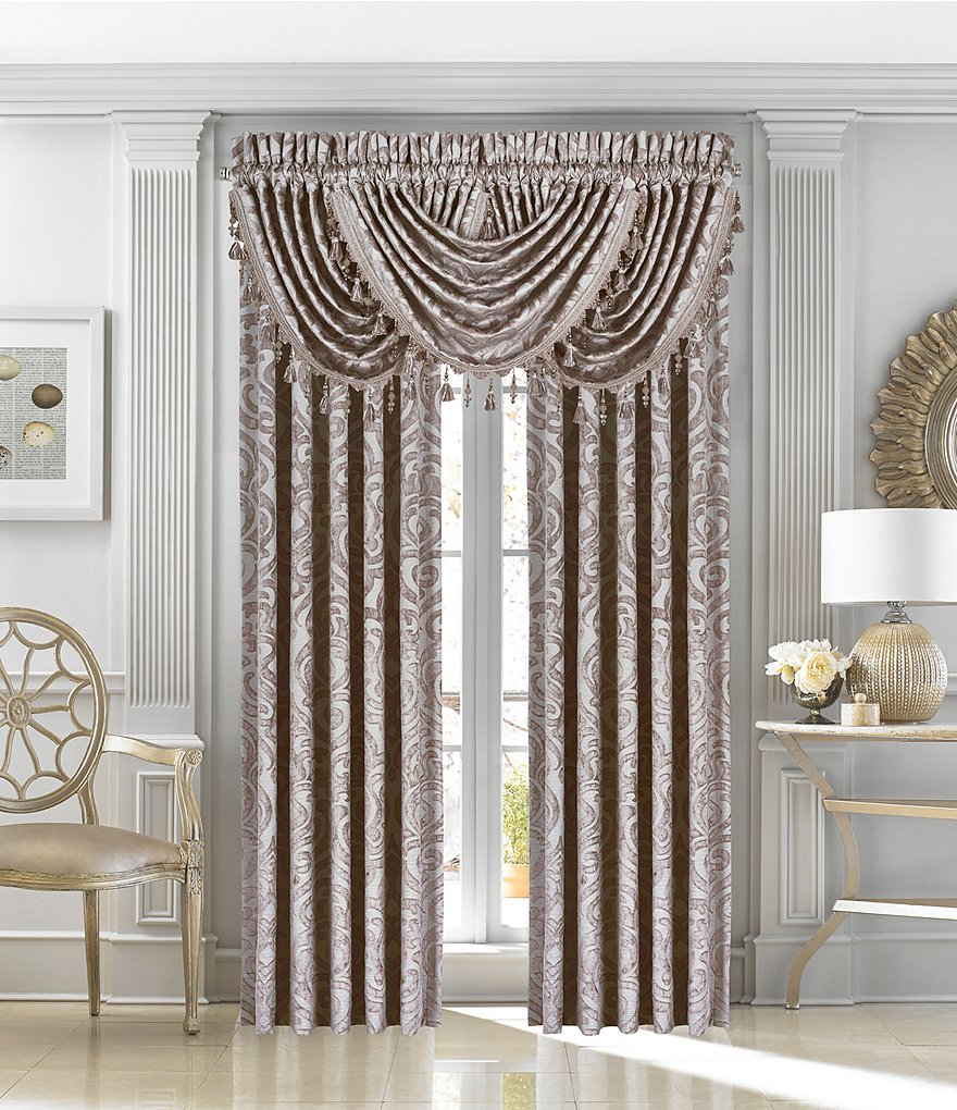 J. Queen New York Sicily Damask Window Treatments