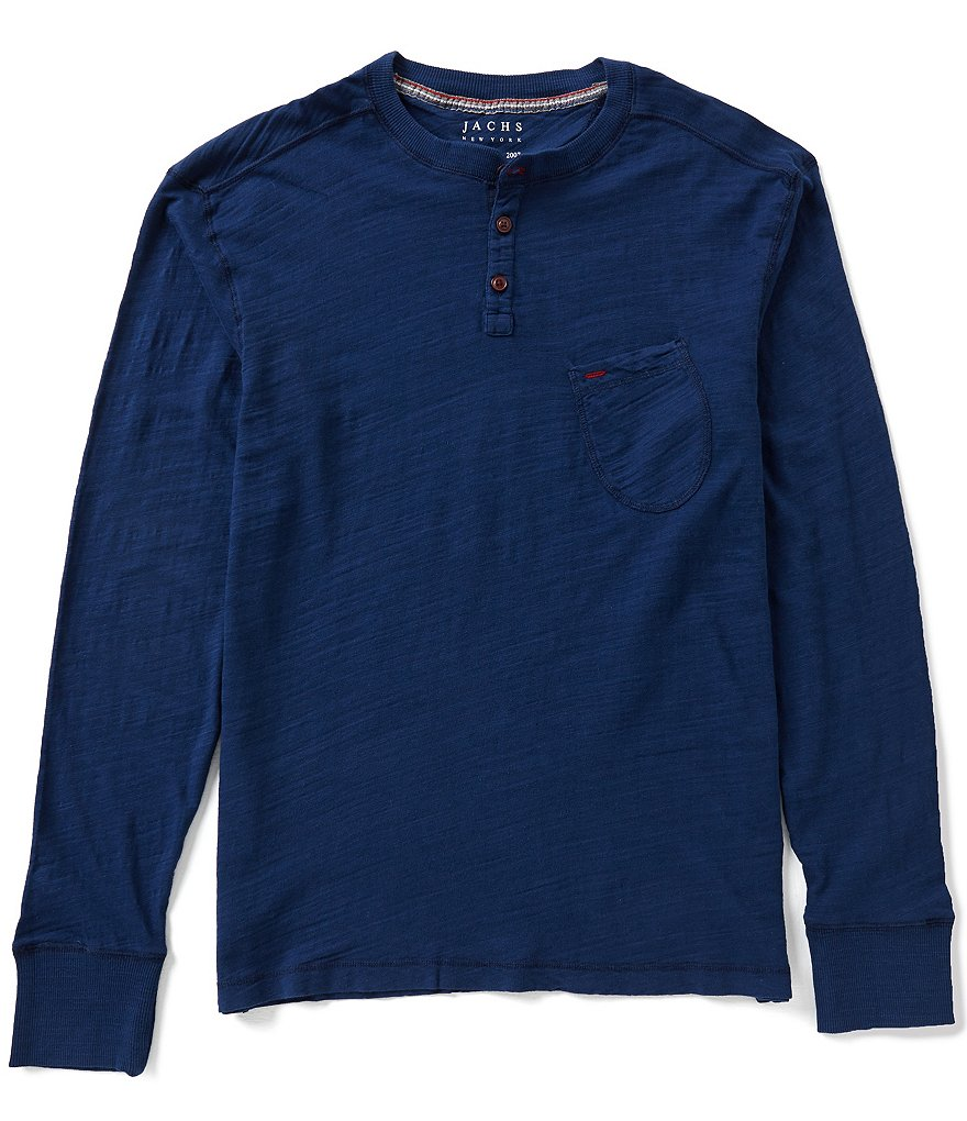 J.a.c.h.s. Manufacturing Co. Long-Sleeve Indigo Dyed Henley