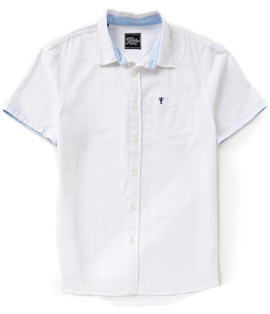 J.A.C.H.S. Manufacturing Co. Solid Short-Sleeve Bedford Cord Sportshirt