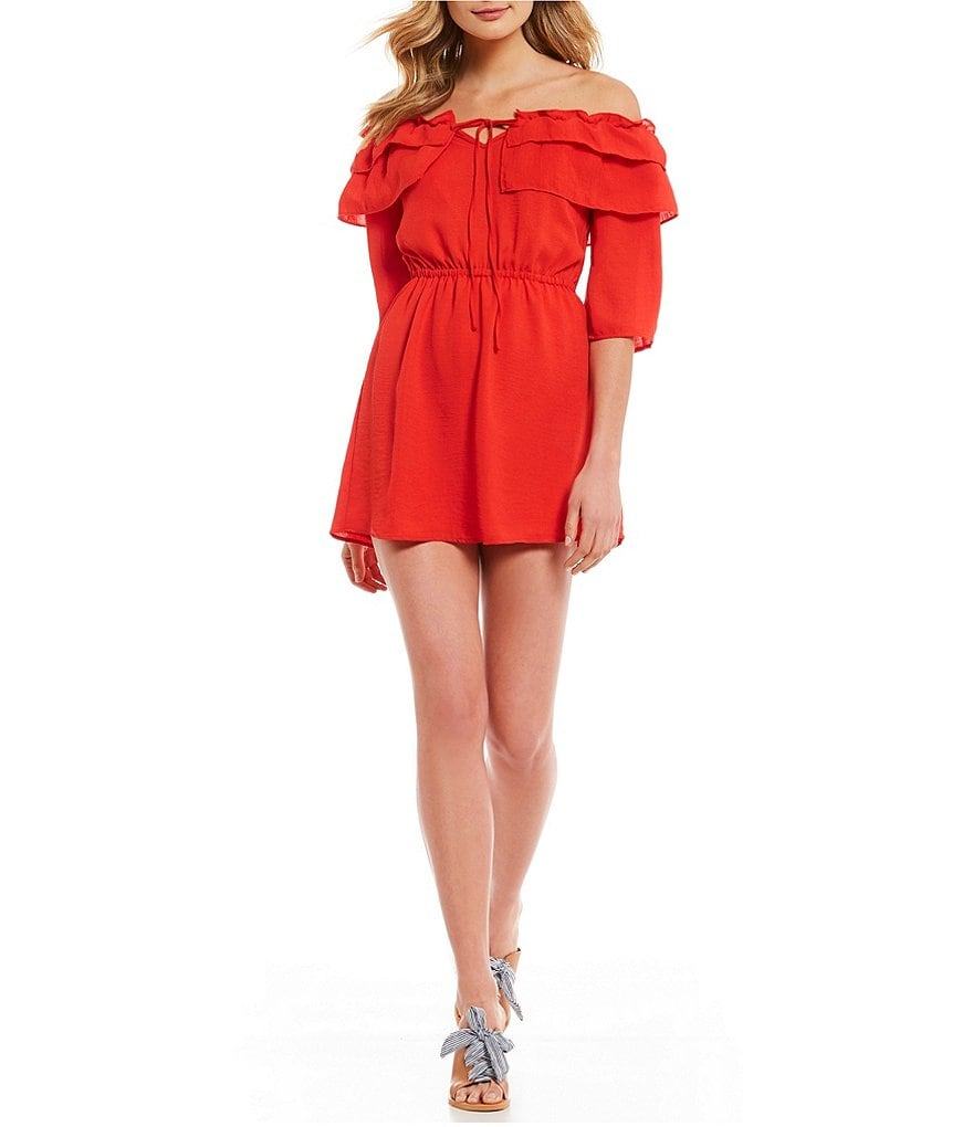 Jack by BB Dakota Bowser Tiered Off-the-Shoulder Blouson Dress