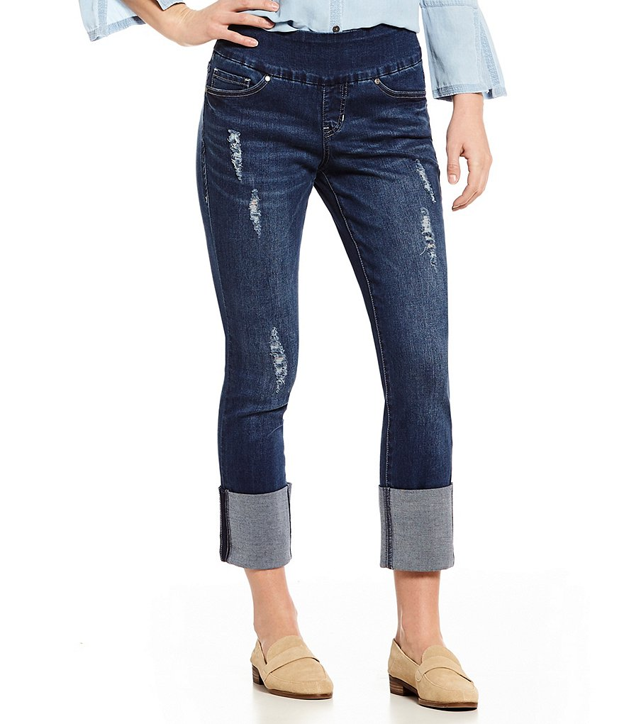 Jag Jeans Lewis Pull-On Straight Cuffed Ankle Jeans