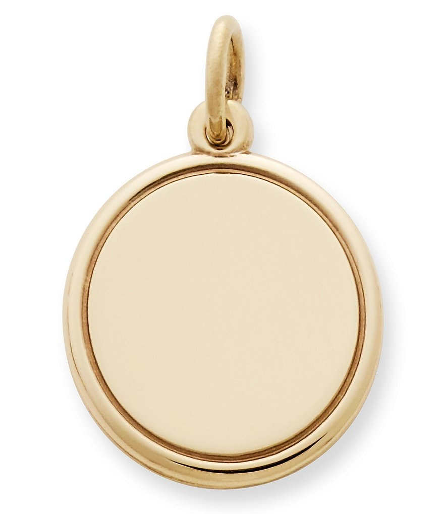 James Avery 14K Engravable Disc Charm