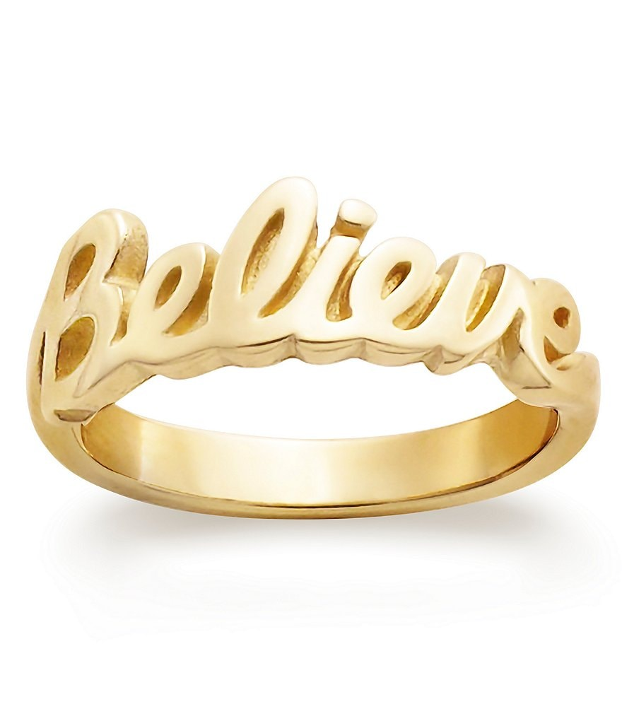 James Avery 14K Gold Believe Ring