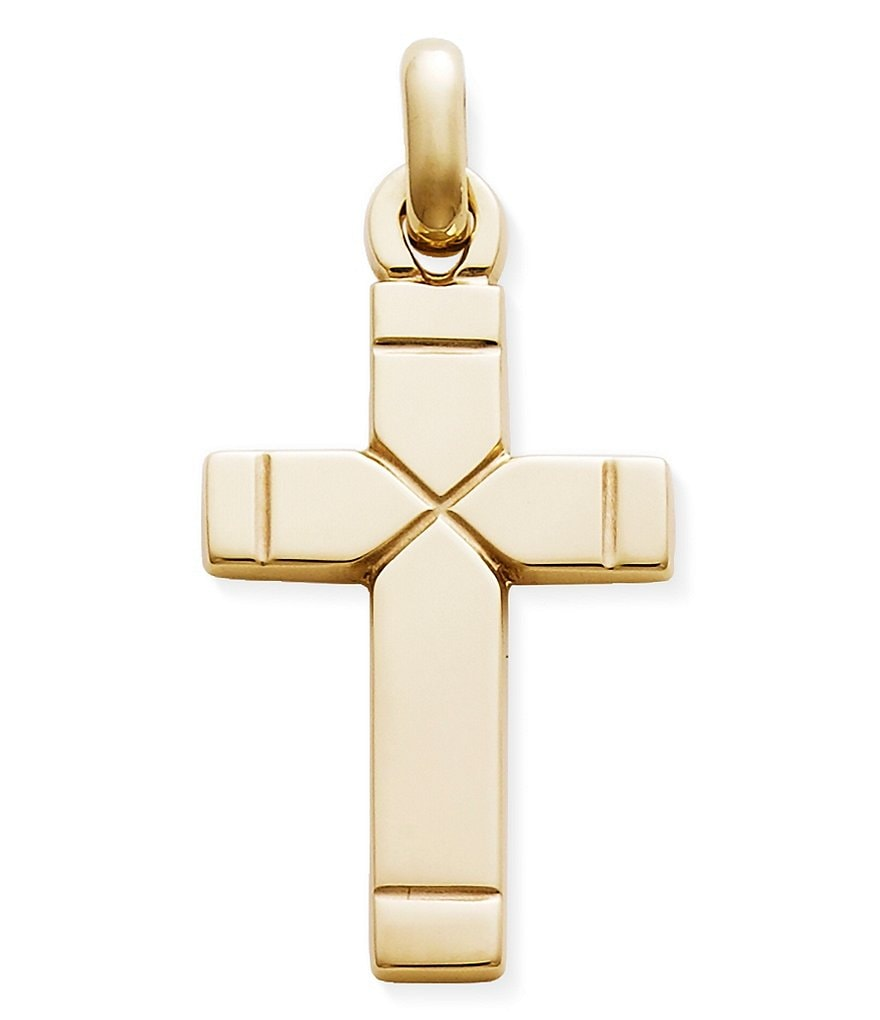 James Avery 14K Gold Plain Latin Cross