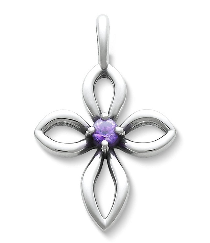 James Avery Avery Remembrance Cross February Birthstone with Amethyst