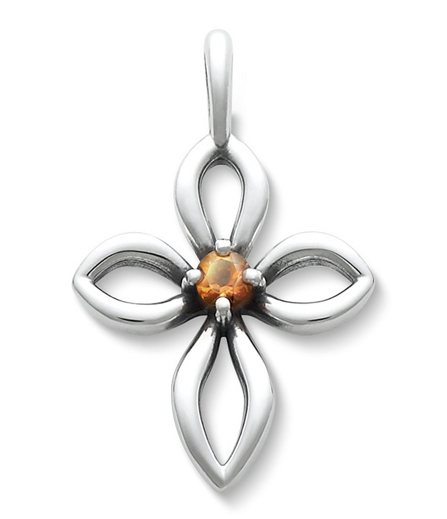 James Avery Avery Remembrance Cross with Citrine