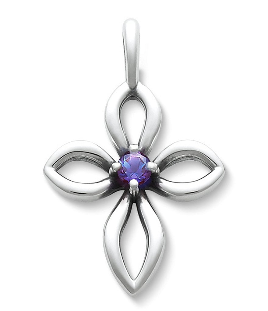 James Avery Avery Remembrance Cross June Birthstone with Lab-Created Alexandrite