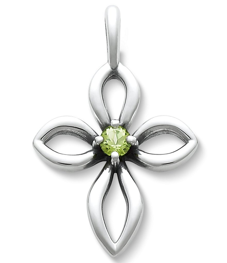 James Avery Avery Remembrance Cross August Birthstone with Peridot
