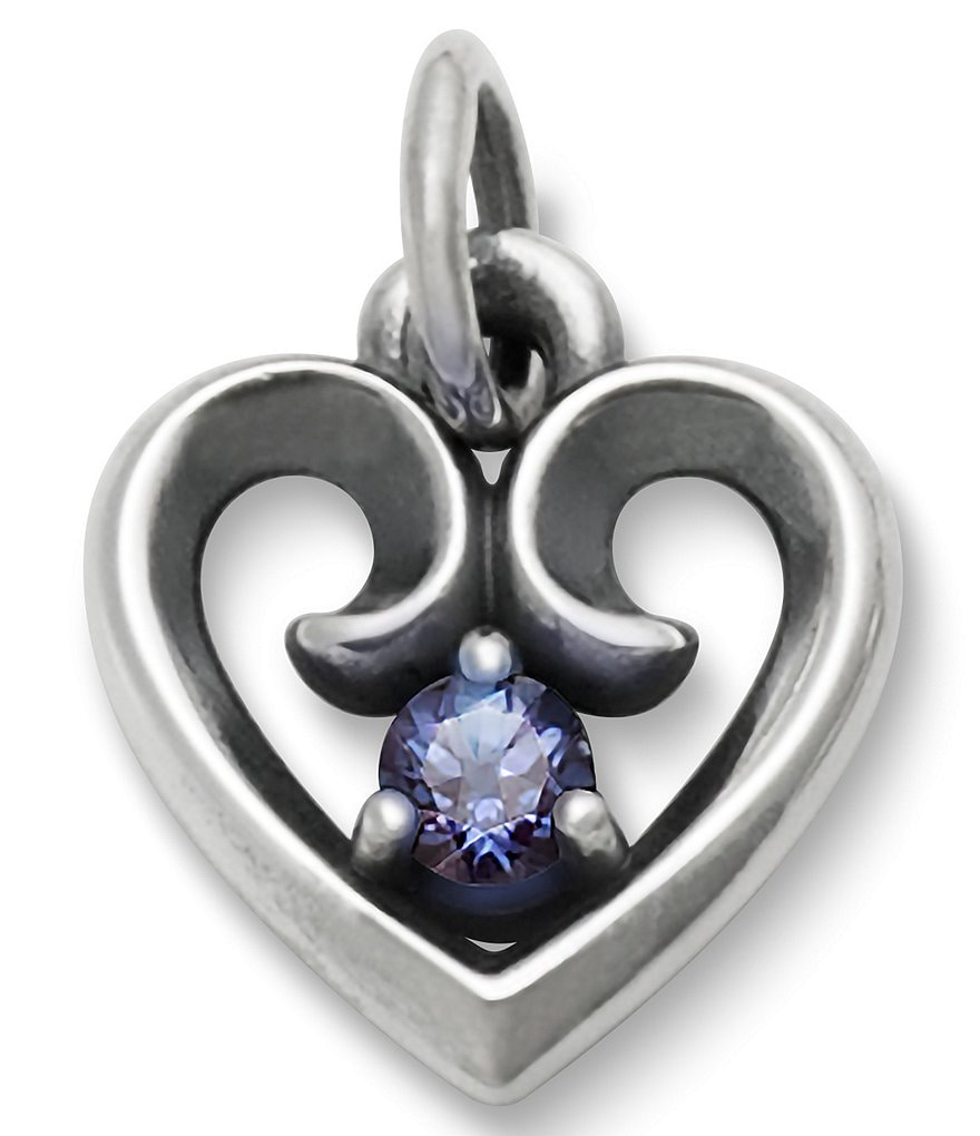 James Avery Avery Remembrance Heart Pendant June Birthstone with Lab-Created Alexandrite