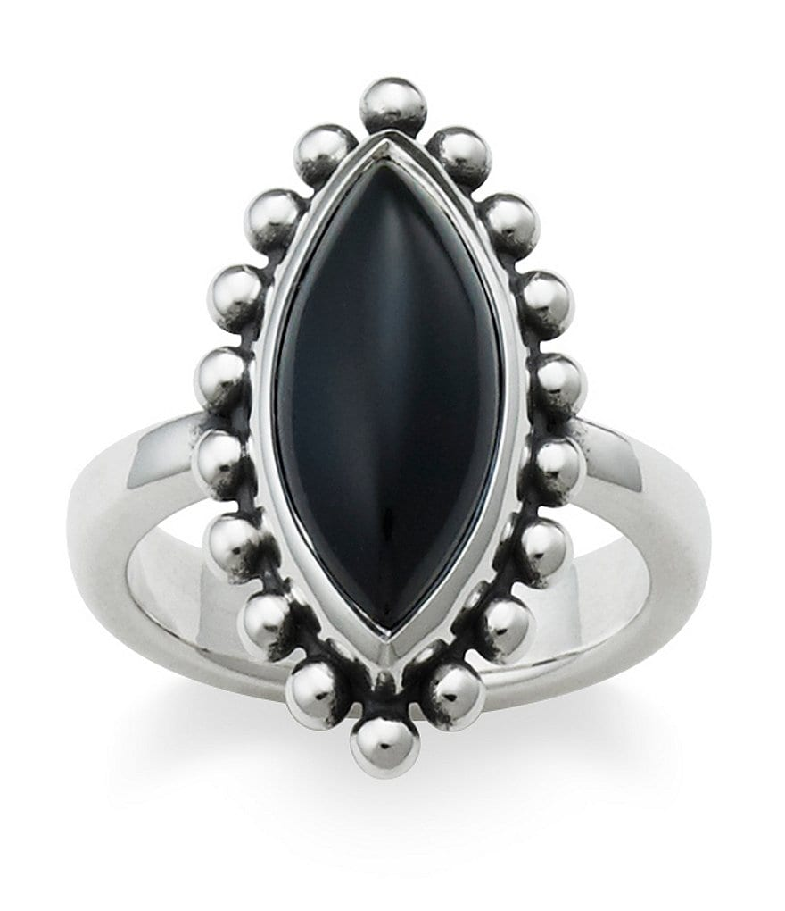 James Avery Beaded Marquise Onyx Ring
