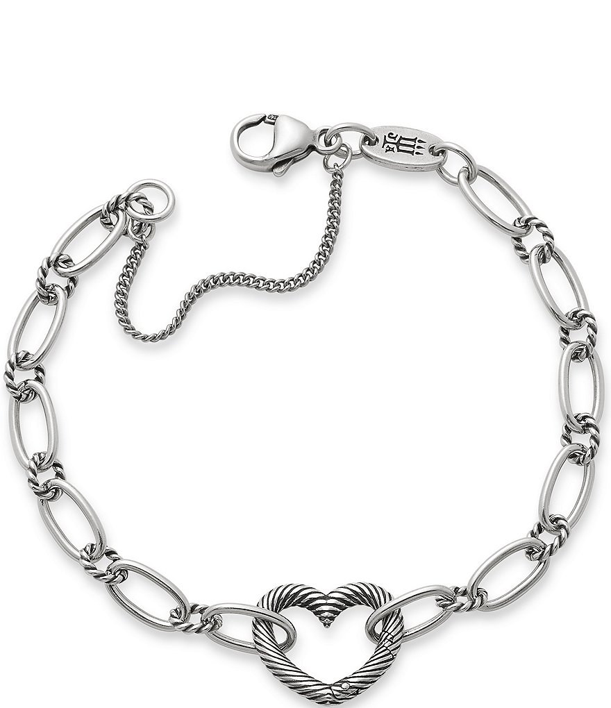 James Avery Changeable Heart Charm Bracelet