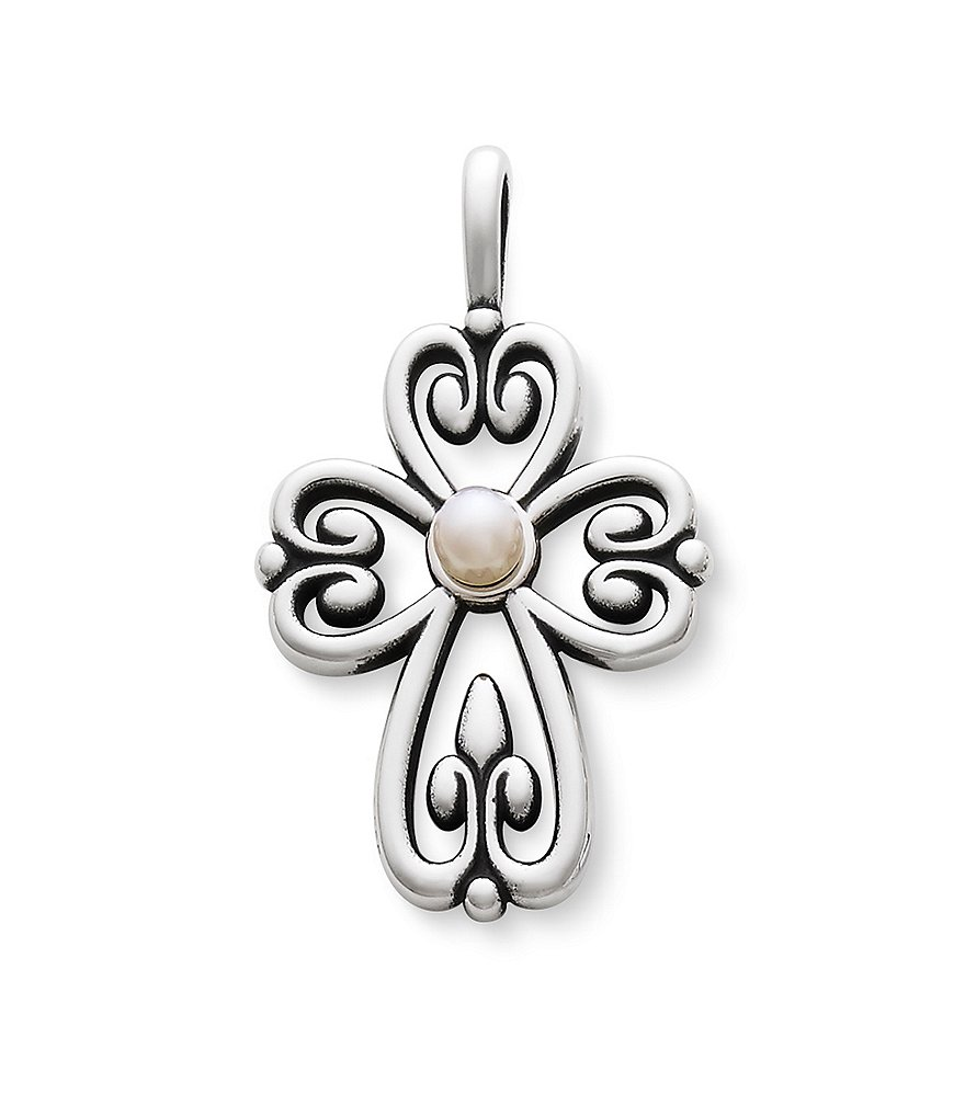 James Avery Cross of Adoration Pearl Pendant